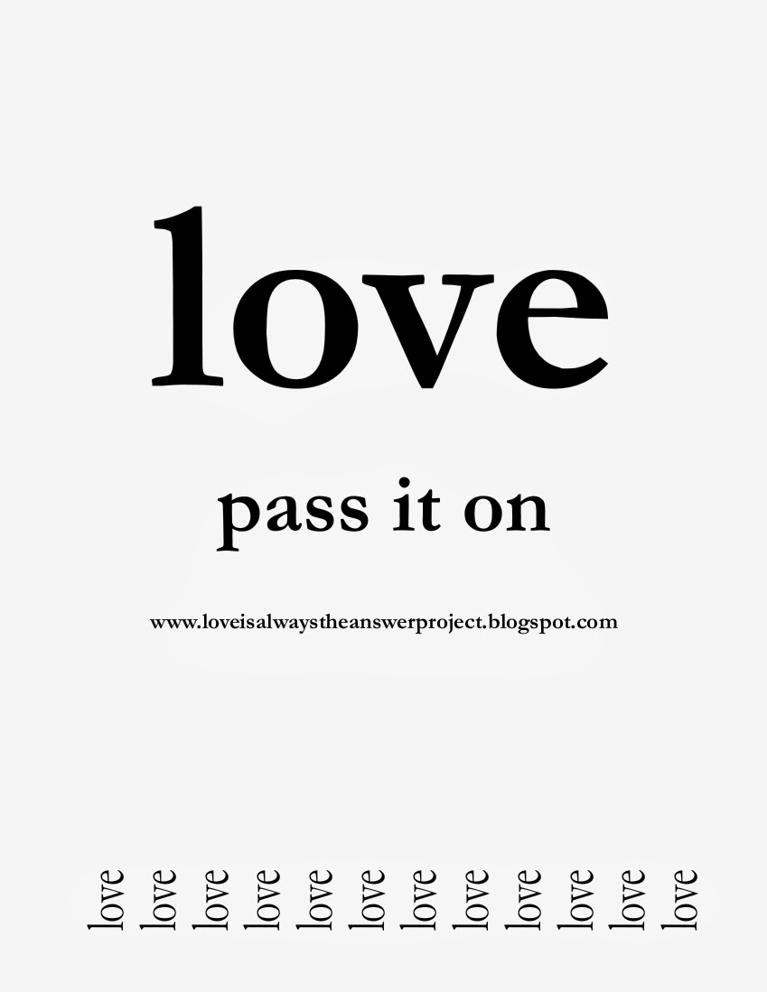 love pass it on