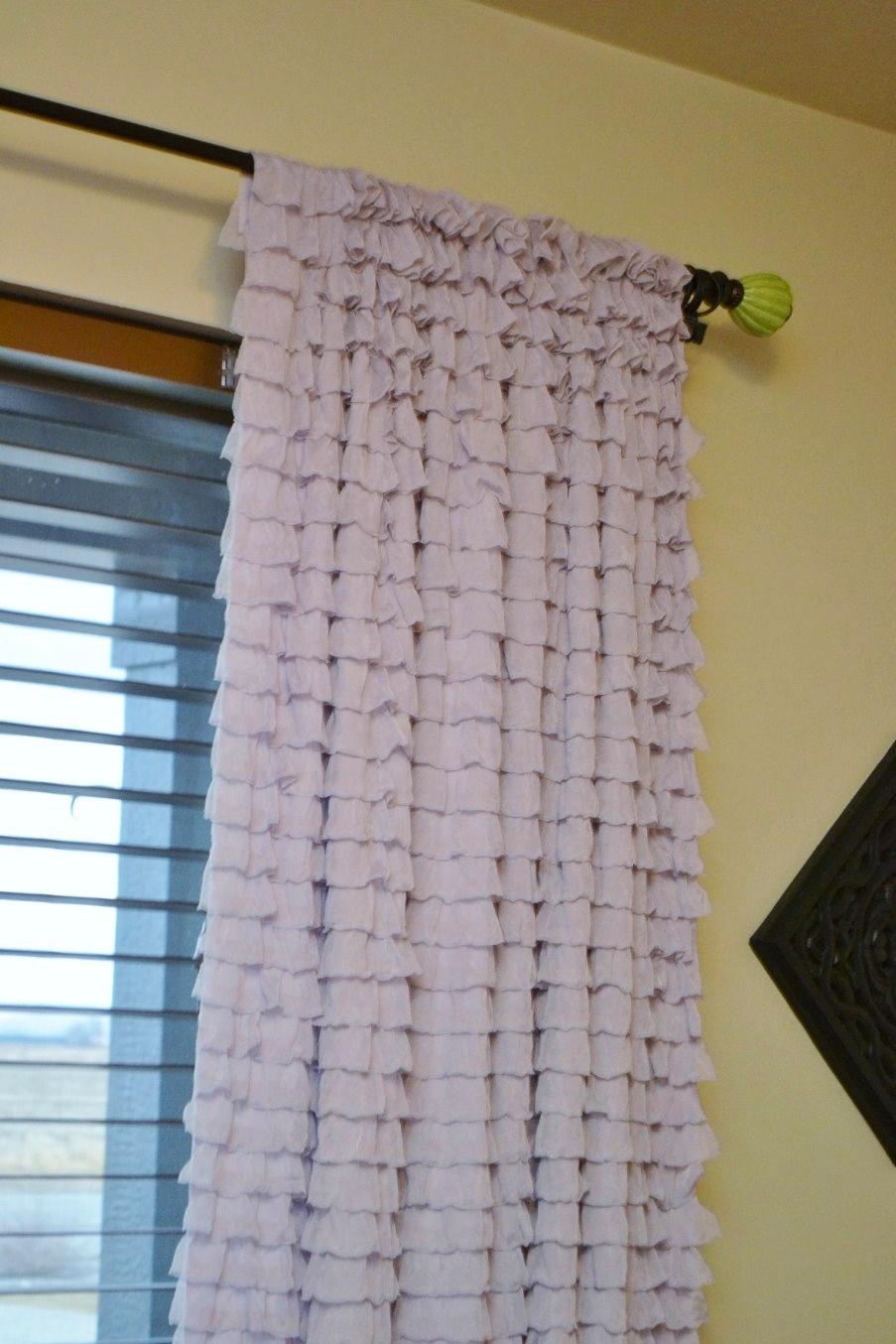 Ruffled curtain panel