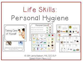 http://www.teacherspayteachers.com/Product/Life-Skills-Personal-Hygiene-Functional-Vocabulary-Language-1232635
