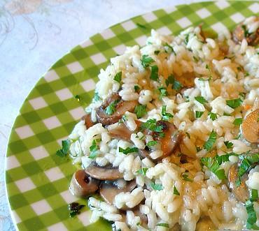 Ricetta del risotto ai funghi