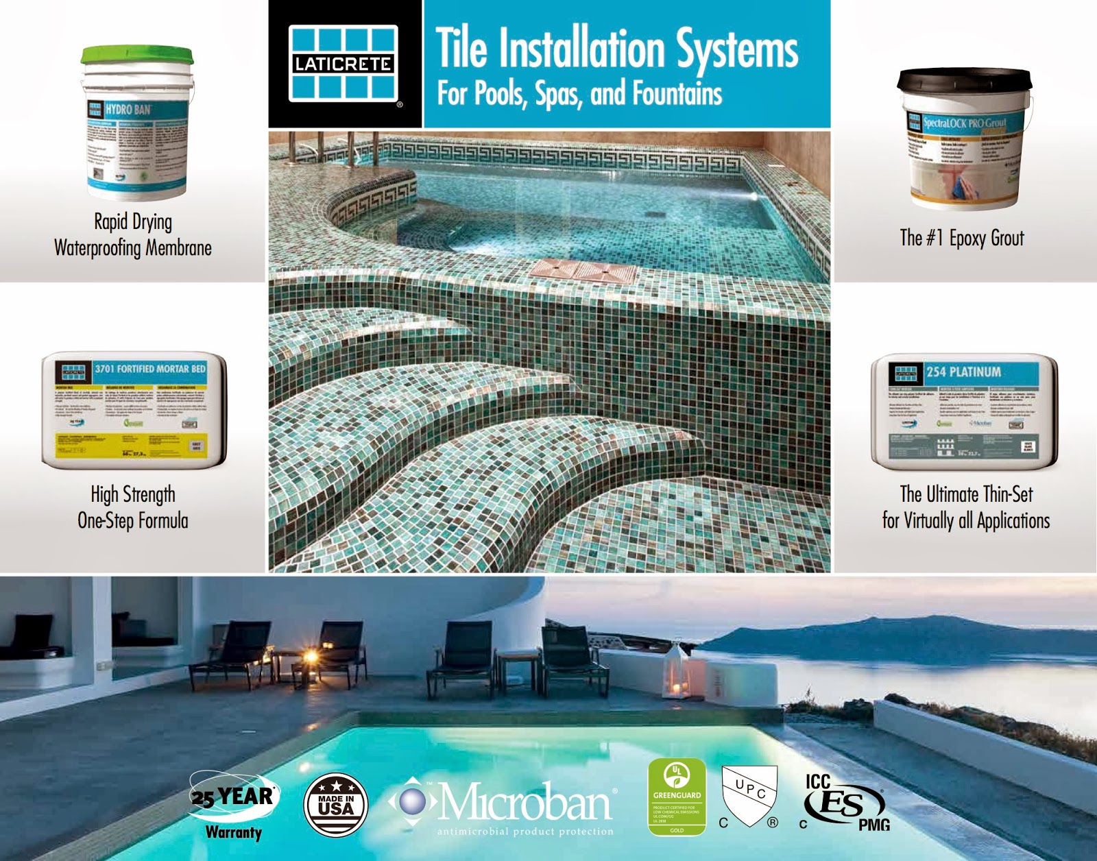Laticrete conversations pool spa patio expo in vegas for Pool spa show vegas 2015