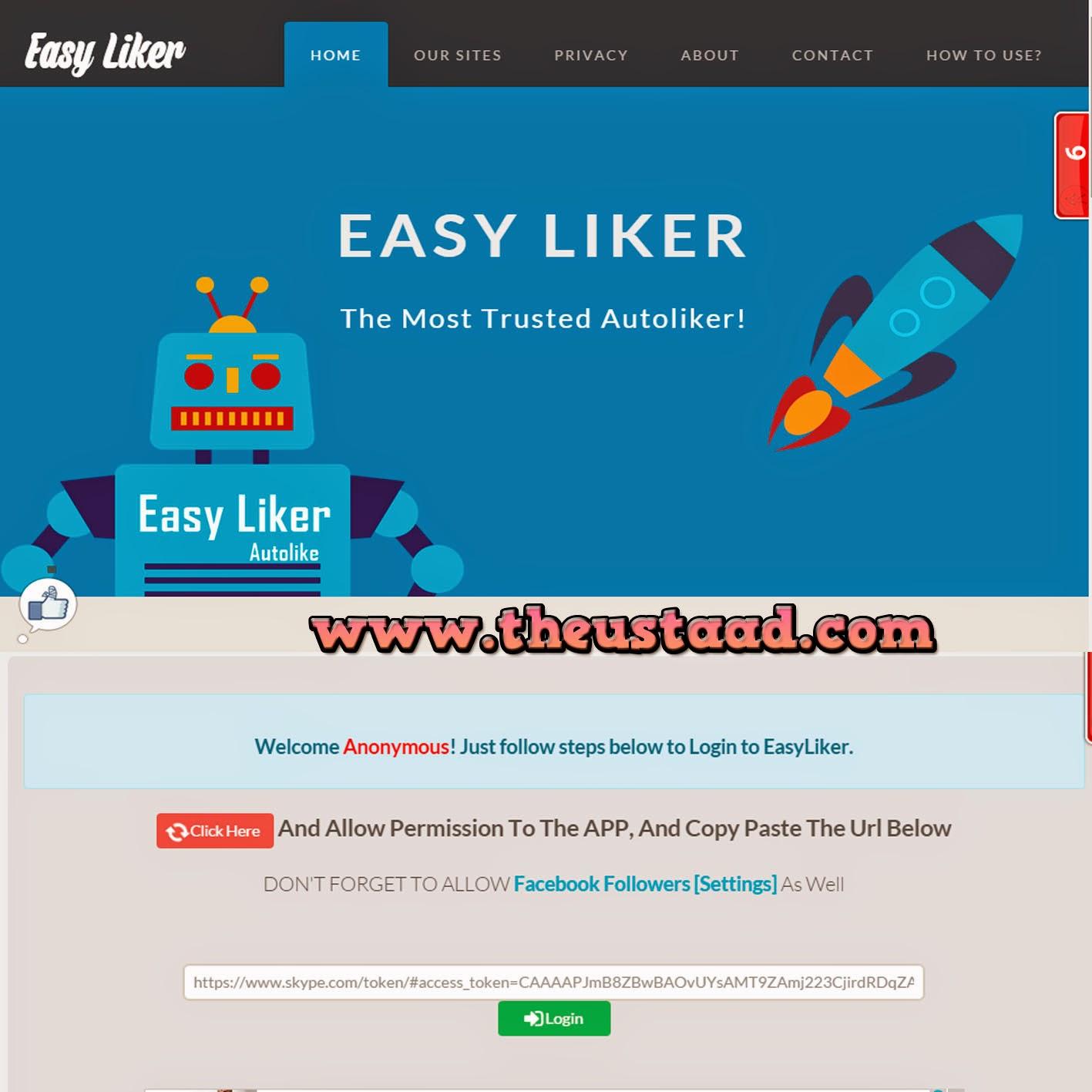 easy liker script download free zip