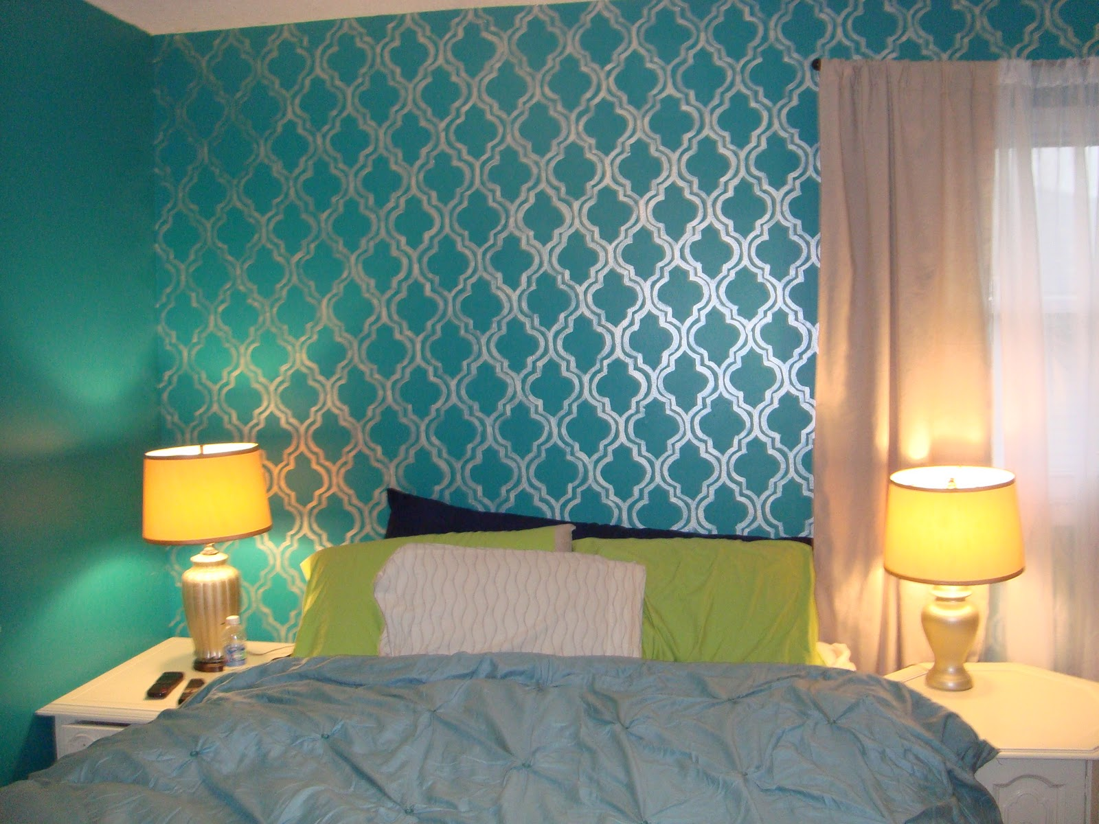 Metallic Blue Wall Paint The Image Kid Has It