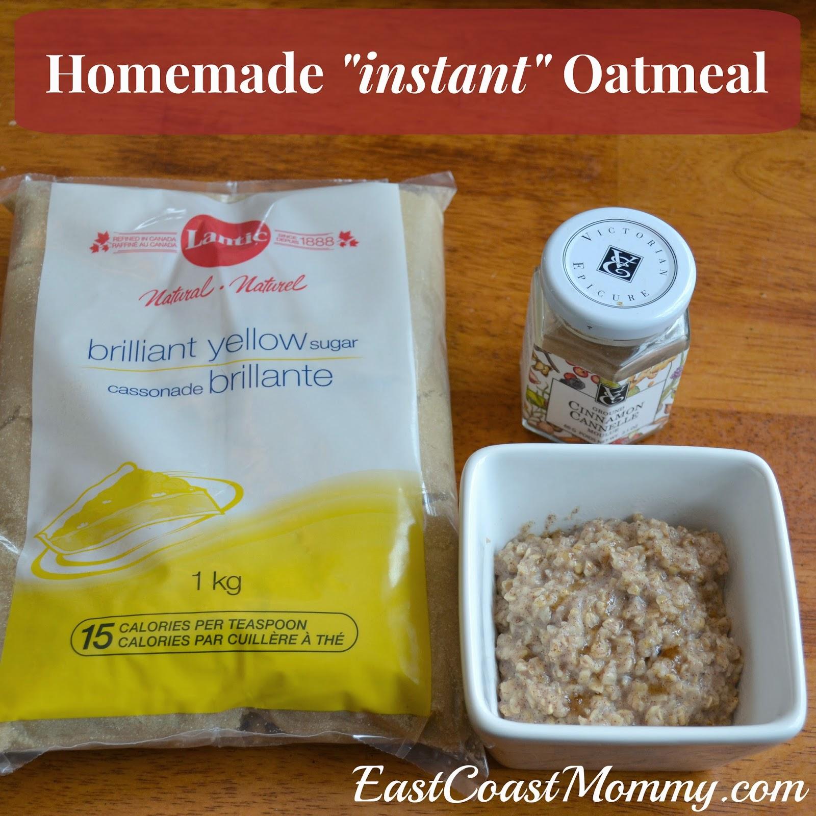 "East Coast Mommy: Homemade ""Instant"" Oatmeal"