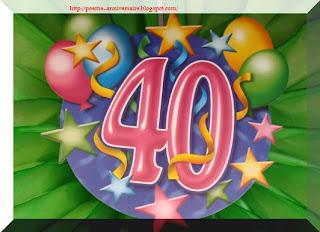 Poème joyeux anniversaire 40 ans