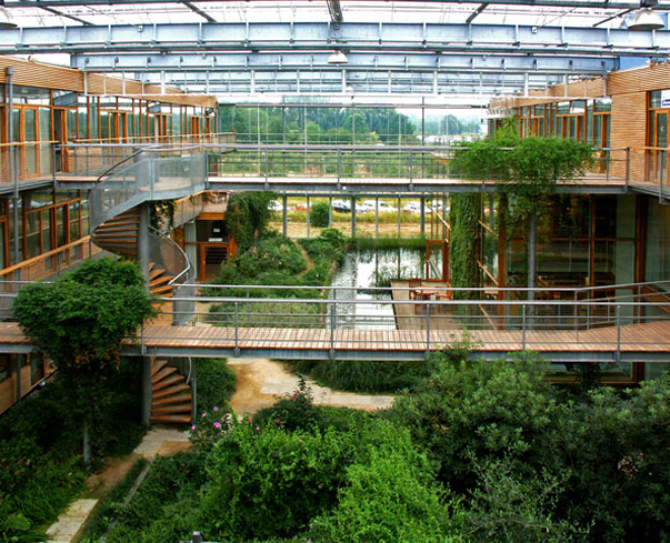 Abstract Media Green Architecture: what is an atrium in a house