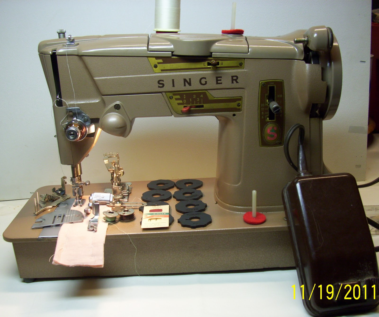 Like these machines he is a very famous sewing machine guru who owns