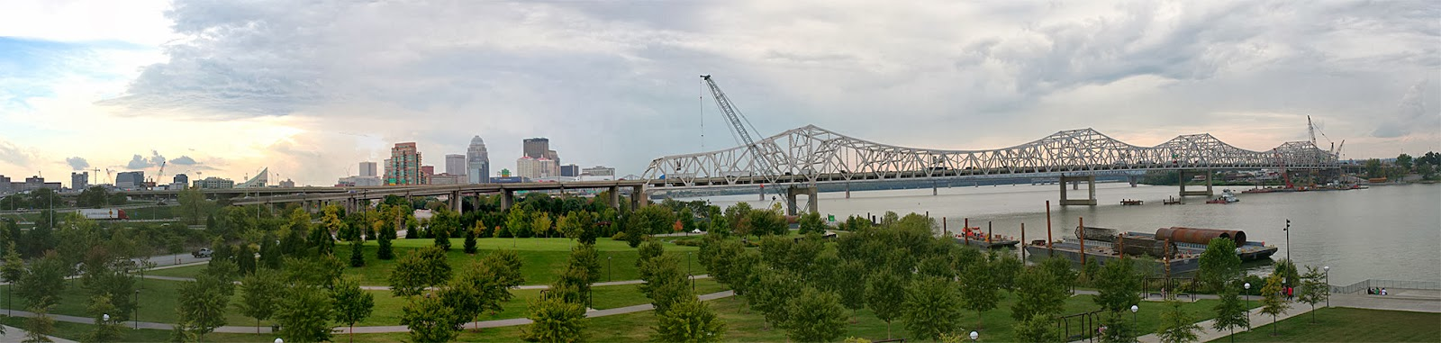 New Louisville Bridge New Bridge Construction in