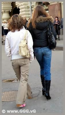 Girl wearing black high-heels boots