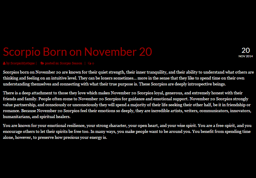 November Birthday Horoscope Astrology (In Pictures) | Sun Signs