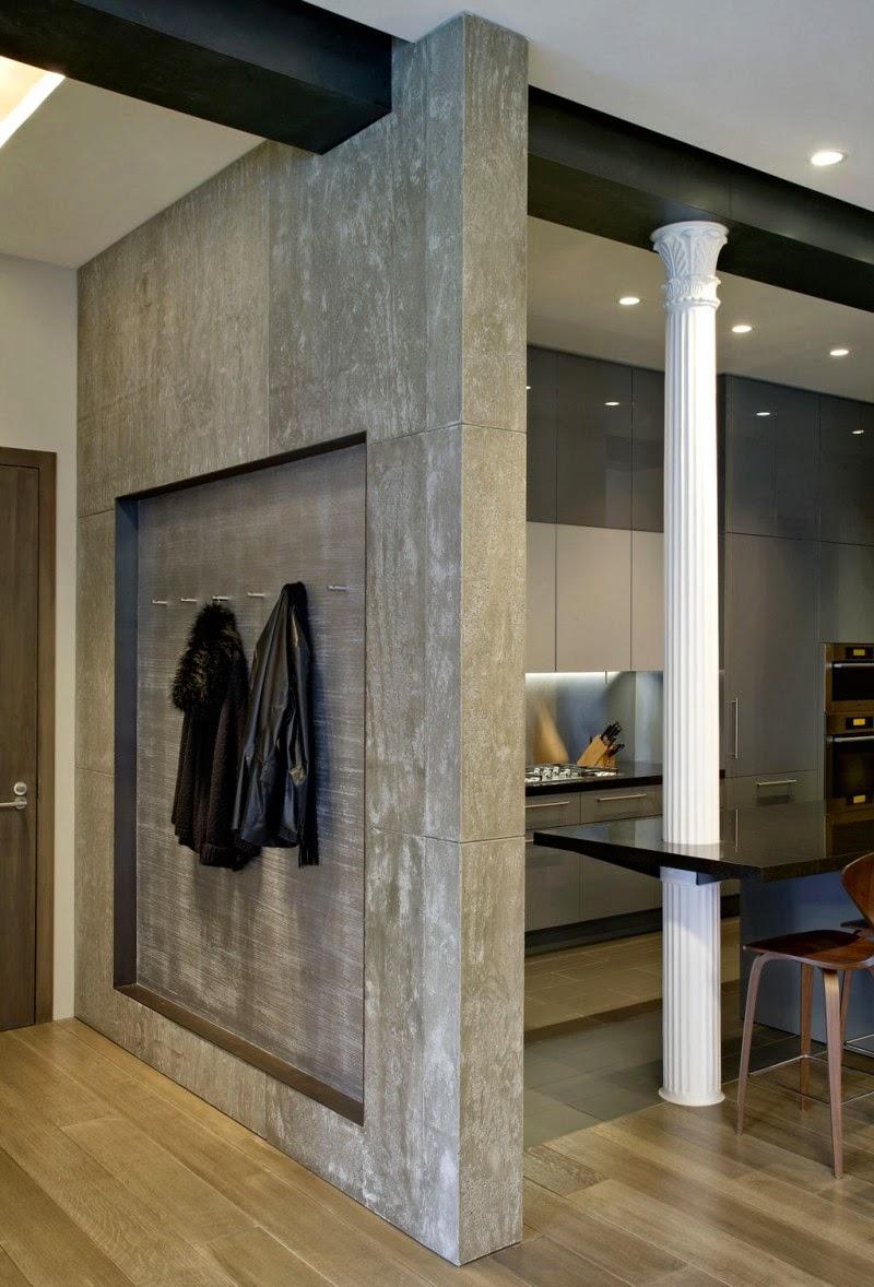 Hogares frescos elegante loft con un interior elegante y con estilo - Muebles fym ...