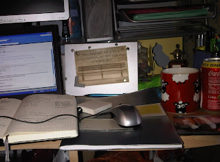 The desk of a home worker
