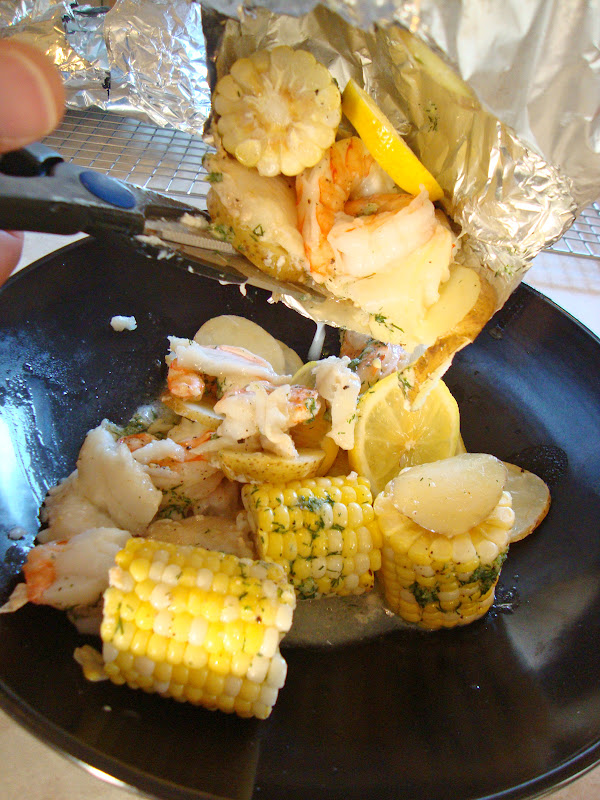 my back pages: grilled new england seafood 'bake'