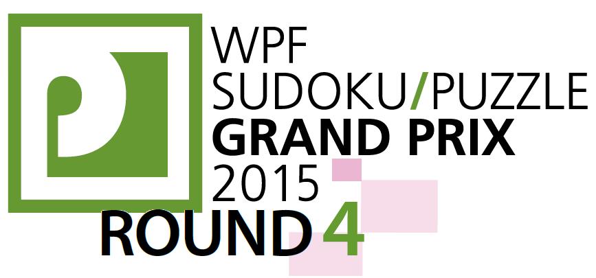WPF Sudoku Grand Prix 2015 Round 4 by Jan Mrozowski