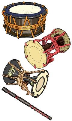 雛人形 五人囃子の楽器