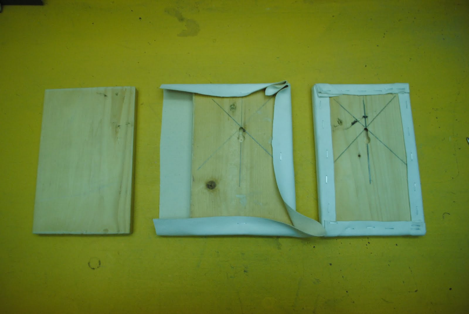 if you have a workshop and want to get a little cheaper you can cut frames yourself for small canvases you can cut boards from scrap wood and cover them