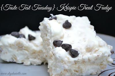 {Taste Test Tuesday} Krispie Treat Fudge