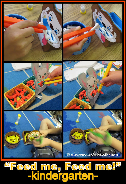 photo of: Fine Motor Skill Development in Kindergarten with Tongs