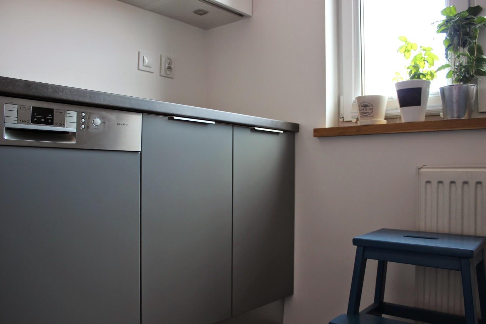 BENO Szary mat w kuchni -> Kuchnia Grafit Mat