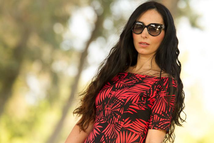 Blogger de moda de Valenciana con Tendencia estampado hojas tropical