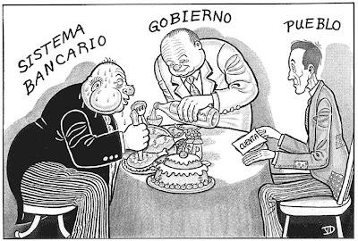 Mientras los gobiernos ejercen de camareros en el banquete. Churchill y Stalin apoyando a Hitler.