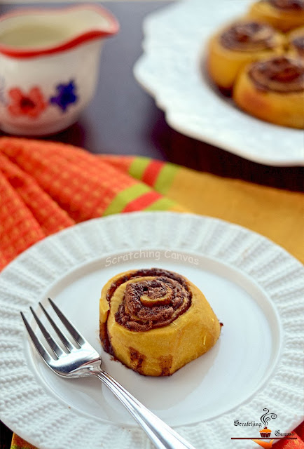 Yeast Free Pumpkin Cinnamon Rolls.. guest posts  My name is Roz but lots call me Rosie.  Welcome to Rosies Home Kitchen.  I moved from the UK to France in 2005, gave up my business and with my husband, Paul, and two sons converted a small cottage in rural Brittany to our home   Half Acre Farm.  It was here after years of ready meals and take aways in the UK I realised that I could cook. Paul also learned he could grow vegetables and plant fruit trees; we also keep our own poultry for meat and eggs. Shortly after finishing the work on our house we was featured in a magazine called Breton and since then Ive been featured in a few magazines for my food.  My two sons now have their own families but live near by and Im now the proud grandmother of two little boys. Both of my daughter in laws are both great cooks.  My cooking is home cooking, but often with a French twist, my videos are not there to impress but inspire, So many people say that they cant cook, but we all can, you just got to give it a go.