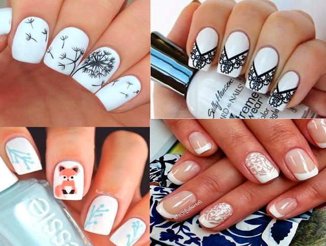 Inspiração, unha, nail art, branco, esmaltes, claros