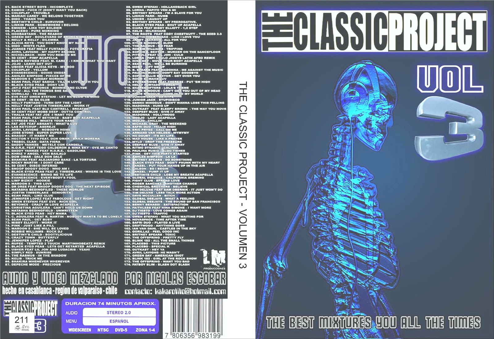 The classic project volumen 3 211 dvd musicales for Classic 3