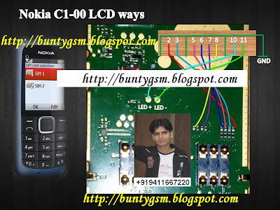 Nokia C1-00 Display Light Solution