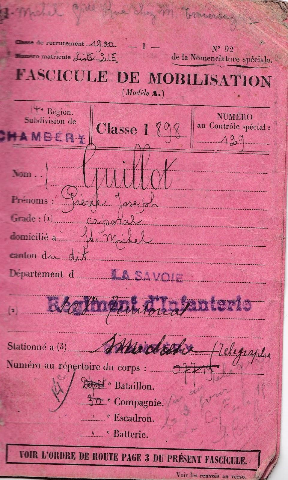 le carnet de pierre  1914