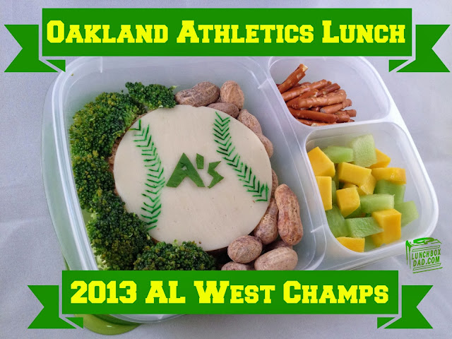 Oakland A's bento baseball lunch