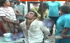 Residents give punishment who rape 6 years old Girl in Film Nagar