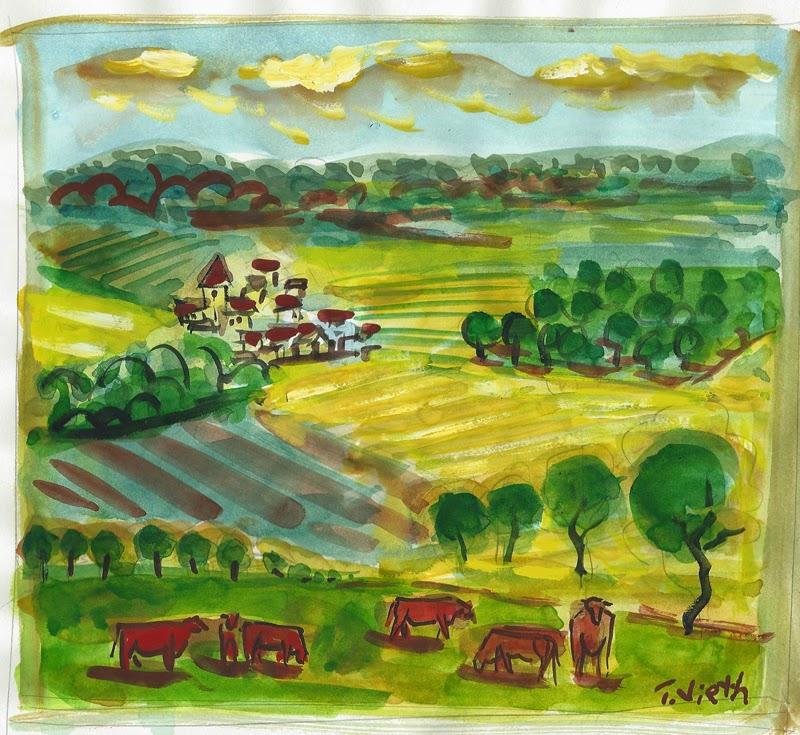 Dordogne Fields, Perigord Vert, France