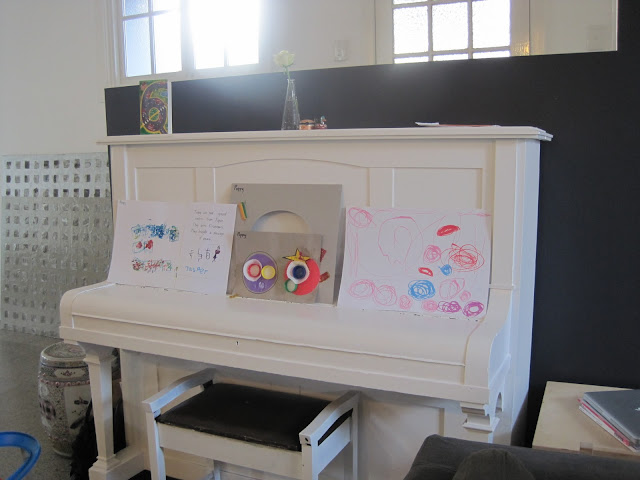 Home Tour painted piano