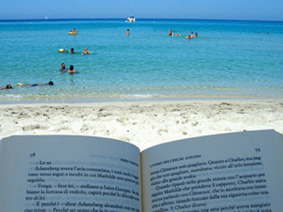 Source 4 reading on the beach or by the pool