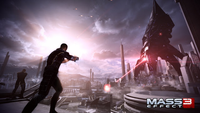 Reaper attacks Earth mass effect 3