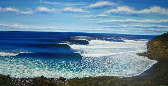 Clark Takashima surf art