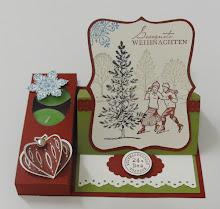 Weihnachtliche Teelichtverpackung Easel Card