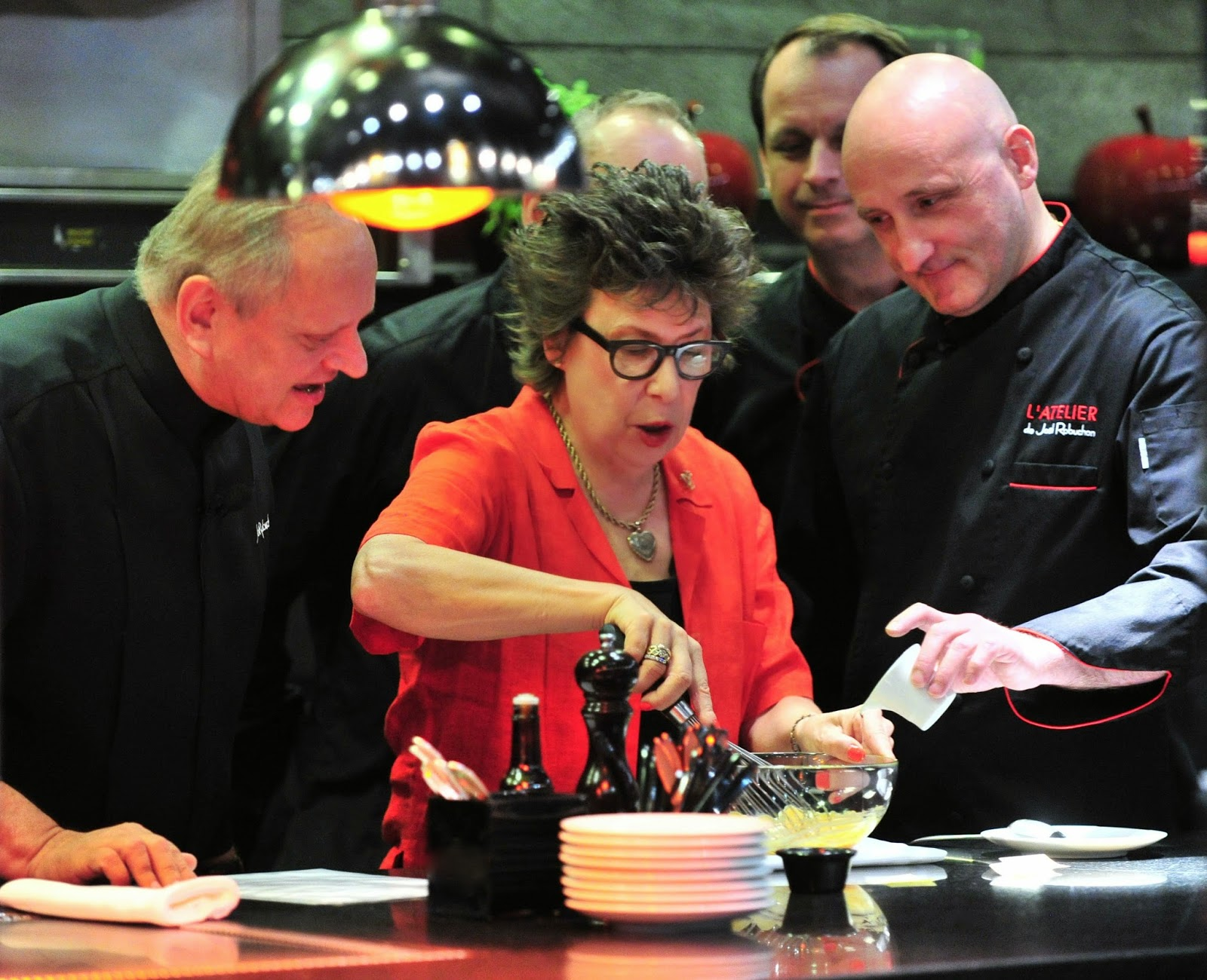 Vegas Uncork'd 2014 Joel Robuchon cooking demo with celebrity food stylist Alice Hart L'Atelier de Joel Robuchon