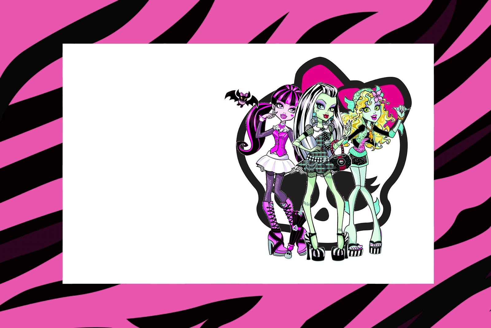 It's just a picture of Persnickety Free Printable Monster High Invitations