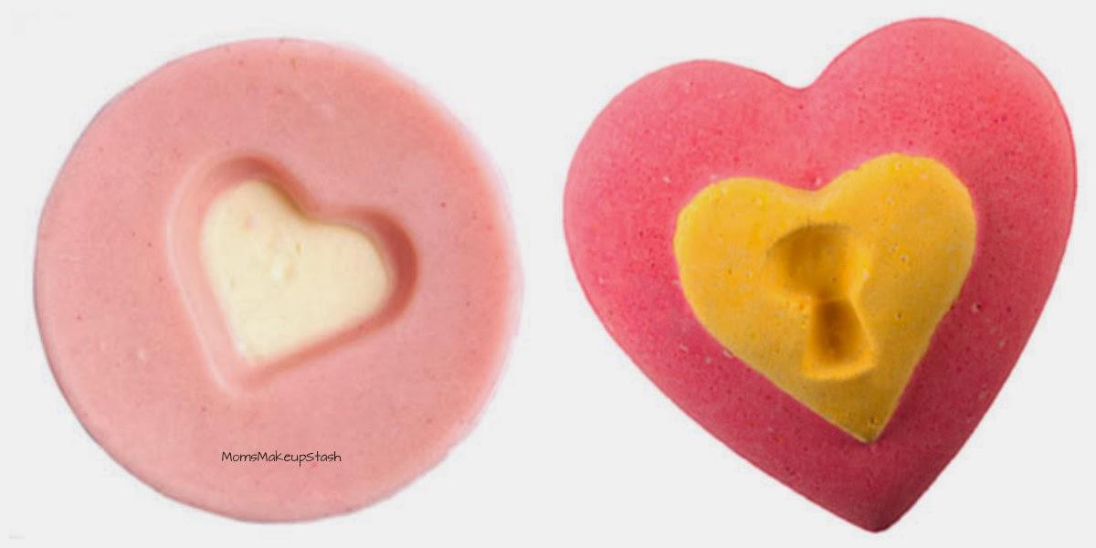LUSH Valentine's Day, LUSH Close to You Massage Bar, LUSH Love Locket Bath Bomb, LUSH Prince Charming Shower Gel