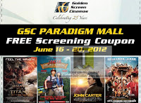 GSC Cinema Paradigm Mall FREE Screening Coupon