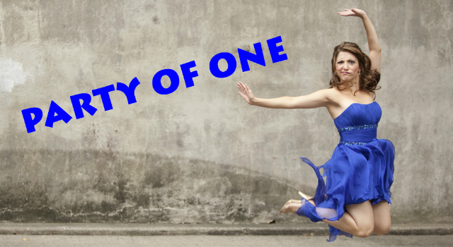 Poster for Christina Bianco - Party of One at the Edinburgh Fringe Festival