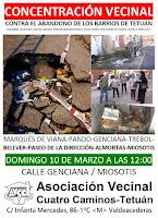 Concentración Vecinal: Contra el abandono de los barrios de Tetuán