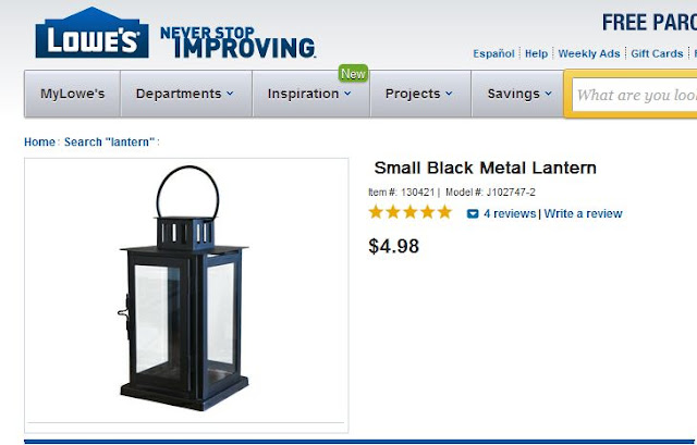 lowes black lantern
