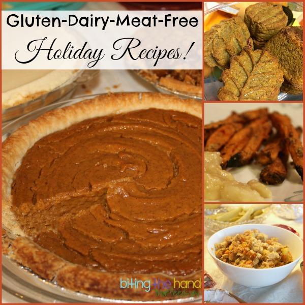 Vegan Thanksgiving of Christmas Dinner Recipes - Gluten-Dye-Dairy-Egg-Free - Biting the Hand That Feeds You