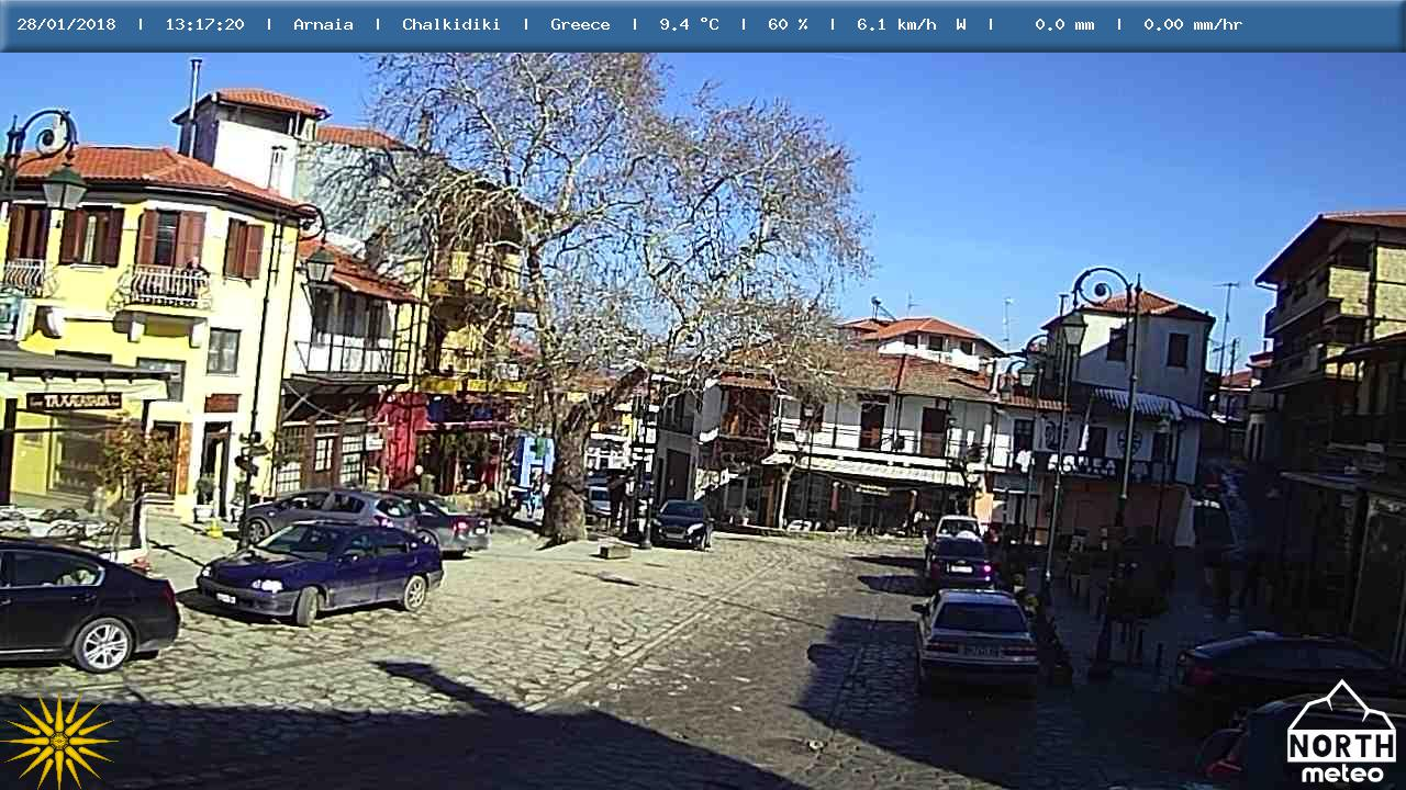 Live κάμερα από την πλατεία της Αρναίας