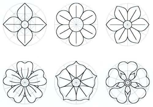 300 desenhos riscos moldes de flores para colorir imprimir