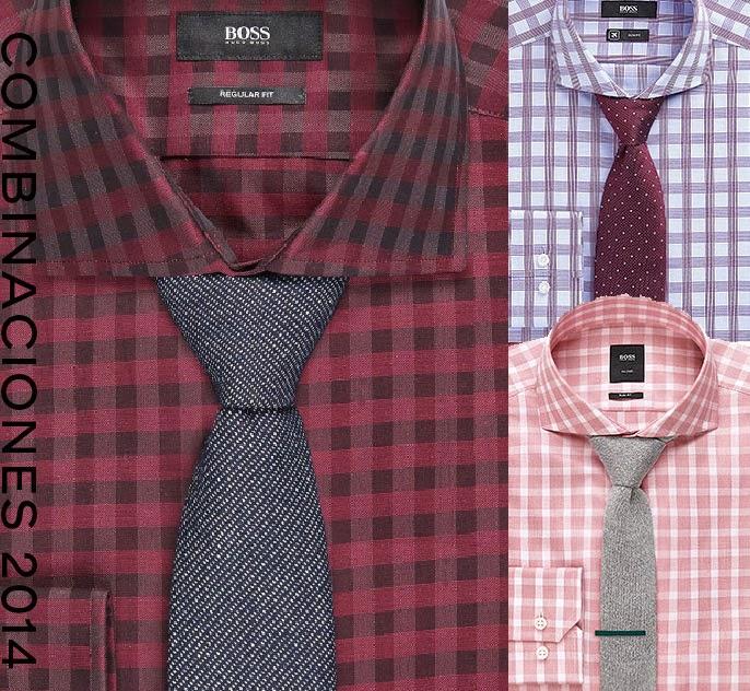Combinaciones corbatas y camisas Hugo Boss 2014 otoño
