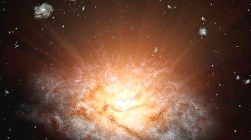 la galaxia mas brillante del universo